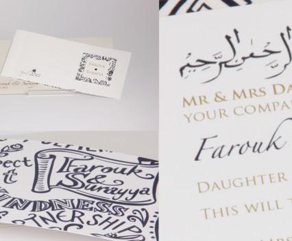 Illustrated Cheque Book Invitation