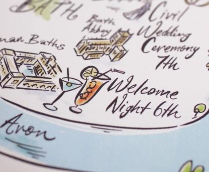 Illustrated Invitation Map