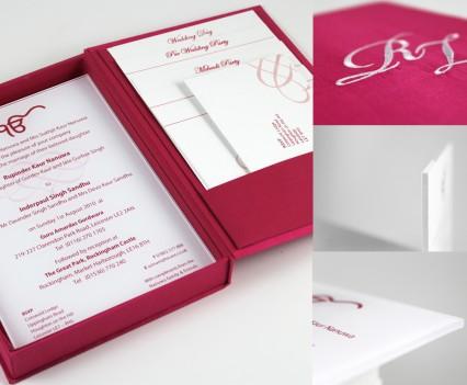 Perspex & Silk Box Invitation