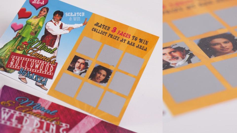 Bollywood Bonanza Scratch Card Favours