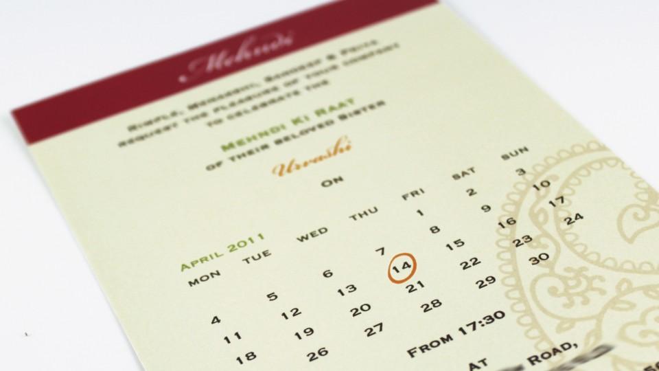 Calendar Style Insert