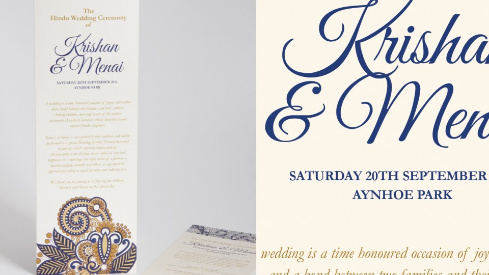 Ceremony Card