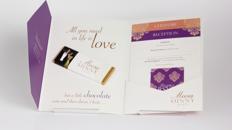 Invitation with Personalised Chocolate