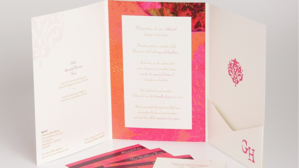 Large Tri-fold Invitation with Pocket