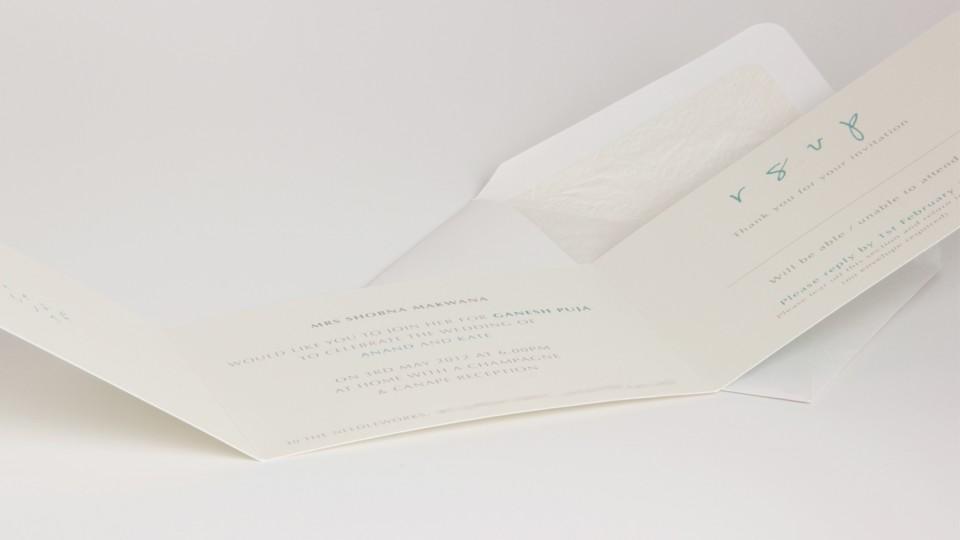 Open Tri-Fold Card