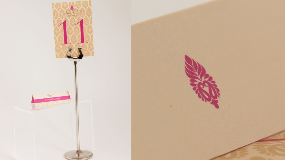 Table Number & Place Card